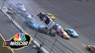 Brendan Gaughan flips in massive crash in last laps at Talladega | Motorsports on NBC