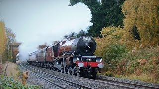 6201 'Princess Elizabeth' Surges Through The Cotswolds - Cathedrals Express 2016