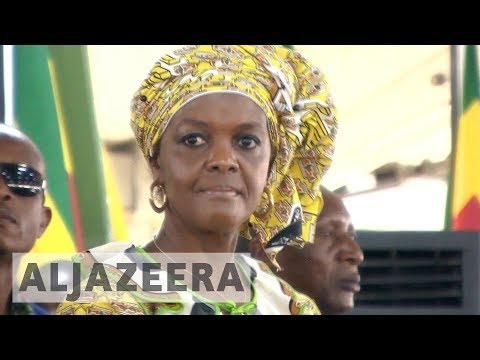 Protesters rally against Grace Mugabe at South Africa summit