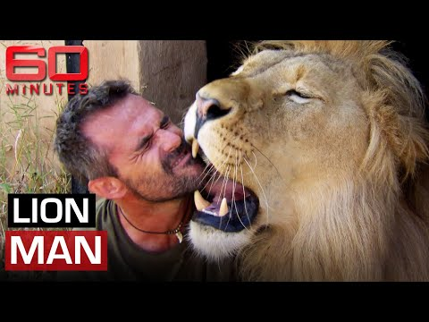 Lion Man (2014) - Cuddling, tickling and living with African lions | 60 Minutes Australia