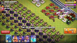 CLASH OF CLANS 1 ELECRO DRAGON AND CLONE SPELL AGAINST ALL AIR DEFENSE
