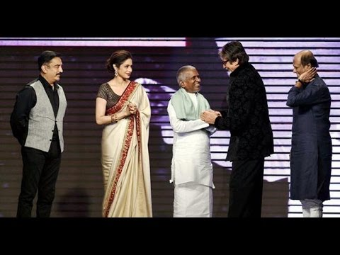 Ilayaraja honoured by Amitabh, Rajini and Kamal on completin