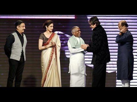 Ilayaraja honoured by Amitabh, Rajini and...