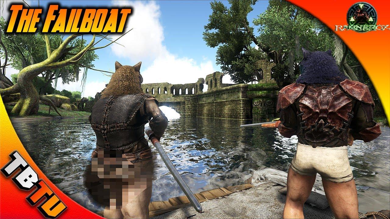 THE FAIL BOAT! Exploring Ragnarok! RAGNAROK SWAMP RUINS! ARK Survival  Ragnarok Map - Gaming Evolved