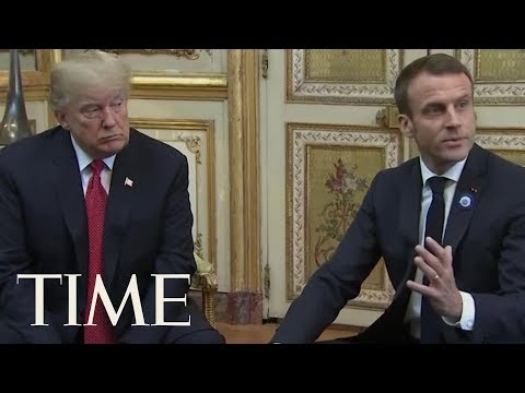 President Trump And President Macron Try To Ease Tensions After Twitter Jab | TIME