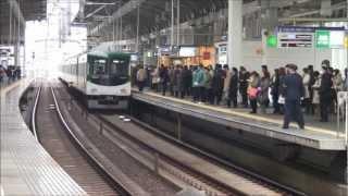 【平日朝ラッシュ時】 京阪寝屋川市駅を走る電車詰め合わせ前編 2013.2.14 thumbnail