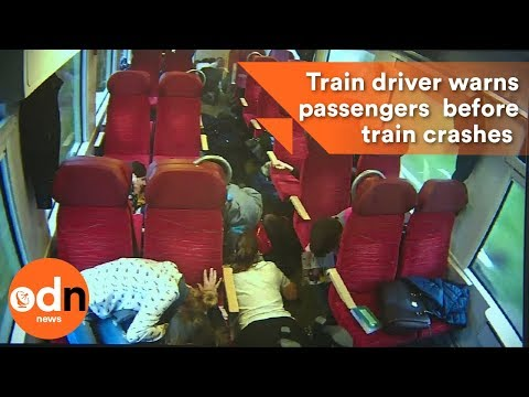 Thumbnail: Train driver warns passengers seconds before train crashes in to lorry