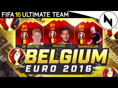 BELGIUM EURO 2016 SQUAD BUILDER! - FIFA 16 Ultimate Team