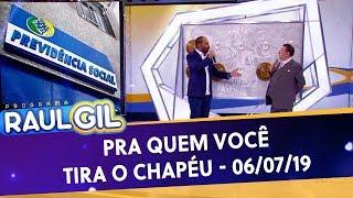 Pra quem você tira o chapéu com Eduardo Bolsonaro - Completo | Programa Raul Gil (06/07/19)