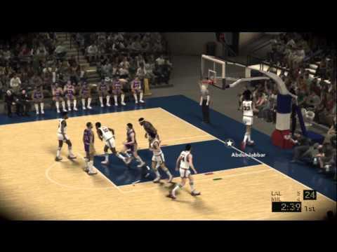 NBA 2K12 Gameplay (Xbox 360): 1971 L.A. Lakers vs. 1971 Milwaukee Bucks - Twitter @NCAAdynasty