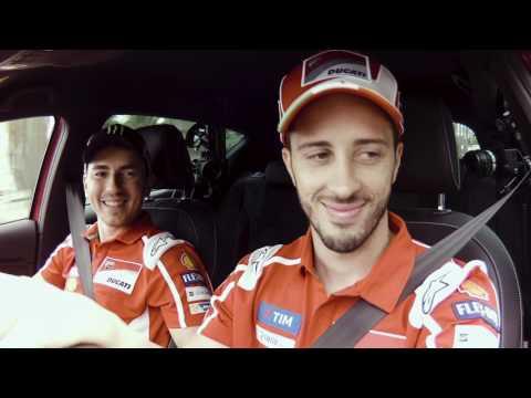 SEAT and Ducati fans surprised Jorge Lorenzo and Andrea Dovizioso