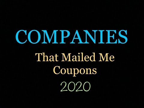 Companies That Mailed Me Coupons 2020