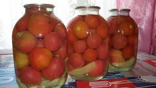 Закрываем помидоры на зиму.Быстро и вкусно.