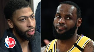 Anthony Davis raves about LeBron James' heat check of 5 straight 3-pointers | NBA Sound