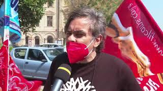 Presidio di protesta in piazza Sant'Antonio
