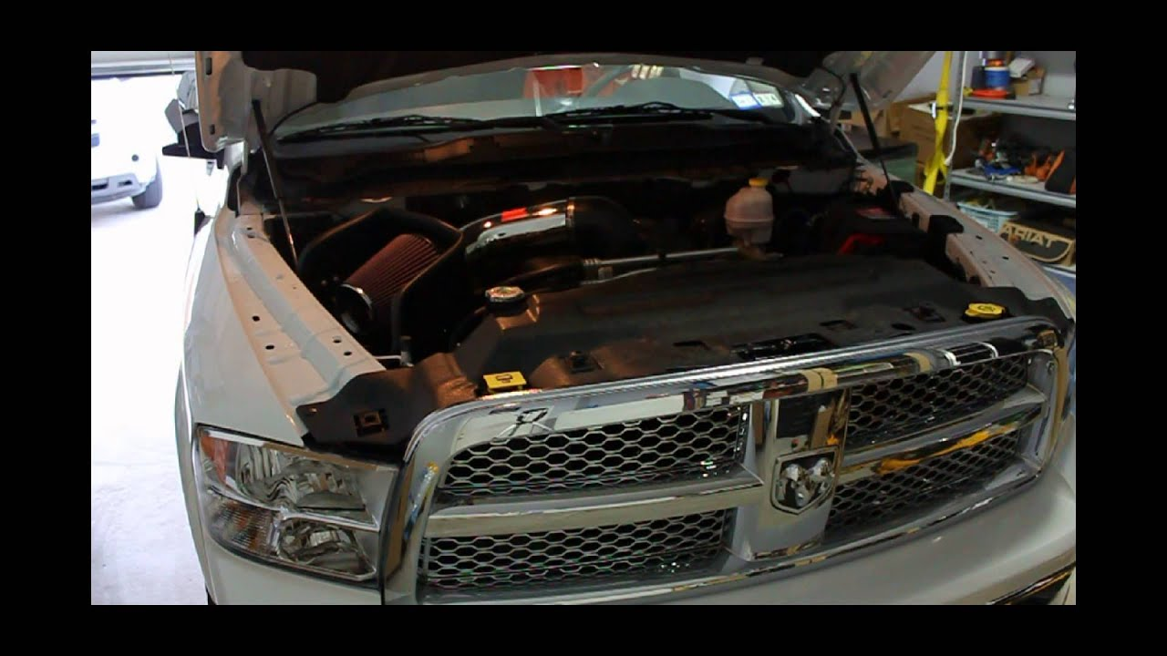 Volant Cold Air Intake >> 2012 RAM 1500 (HEMI) K&N Air Intake, Before and After Sound - YouTube