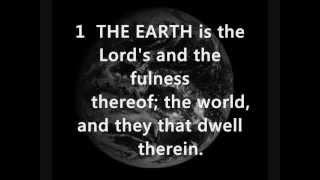PSALM 24 A Psalm of David