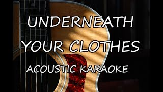 Shakira - Underneath Your Clothes (Acoustic Guitar Karaoke)