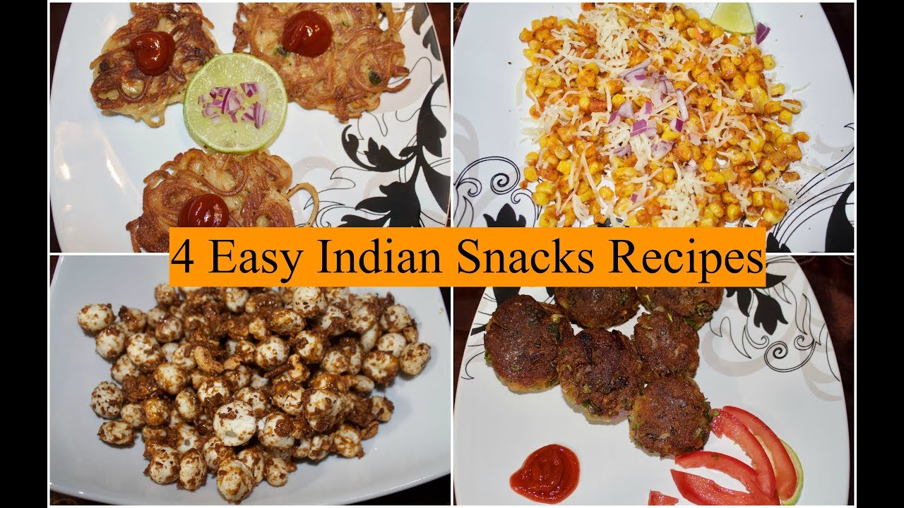 4 Easy Indian Evening Snacks Recipes   How To Make Quick ...