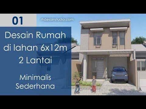 Desain Rumah Minimalis 2 Lantai 6x12 Sederhana 4 Kamar Tidur Kode