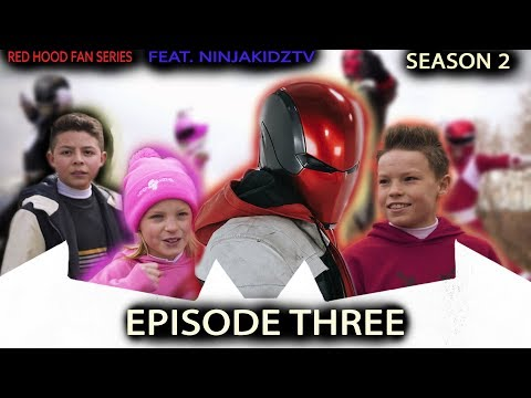 POWER RANGERS NINJA KIDZ MEET BATMAN'S RED HOOD! (S2E3) - RED HOOD FAN SERIES
