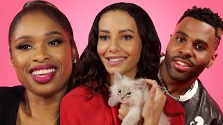 The Cast of 'Cats' Play With Kittens While Answering Fan Questions