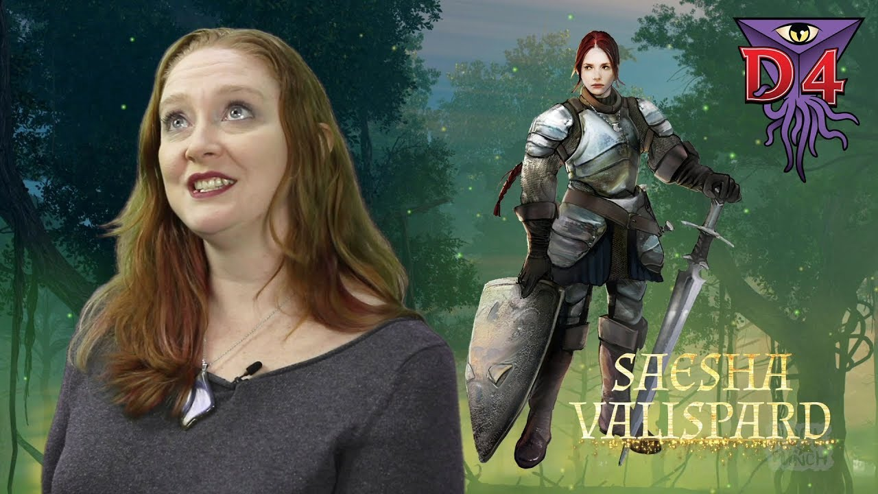 D4 Player intro: Katie playing Saesha the Aasimar Paladin of Oghma