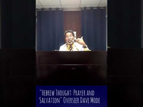 Hebrew Thought: Prayer and Salvation