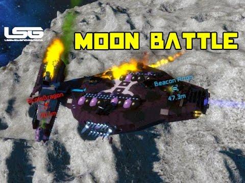Space Engineers - Mega Ship Moon Battle