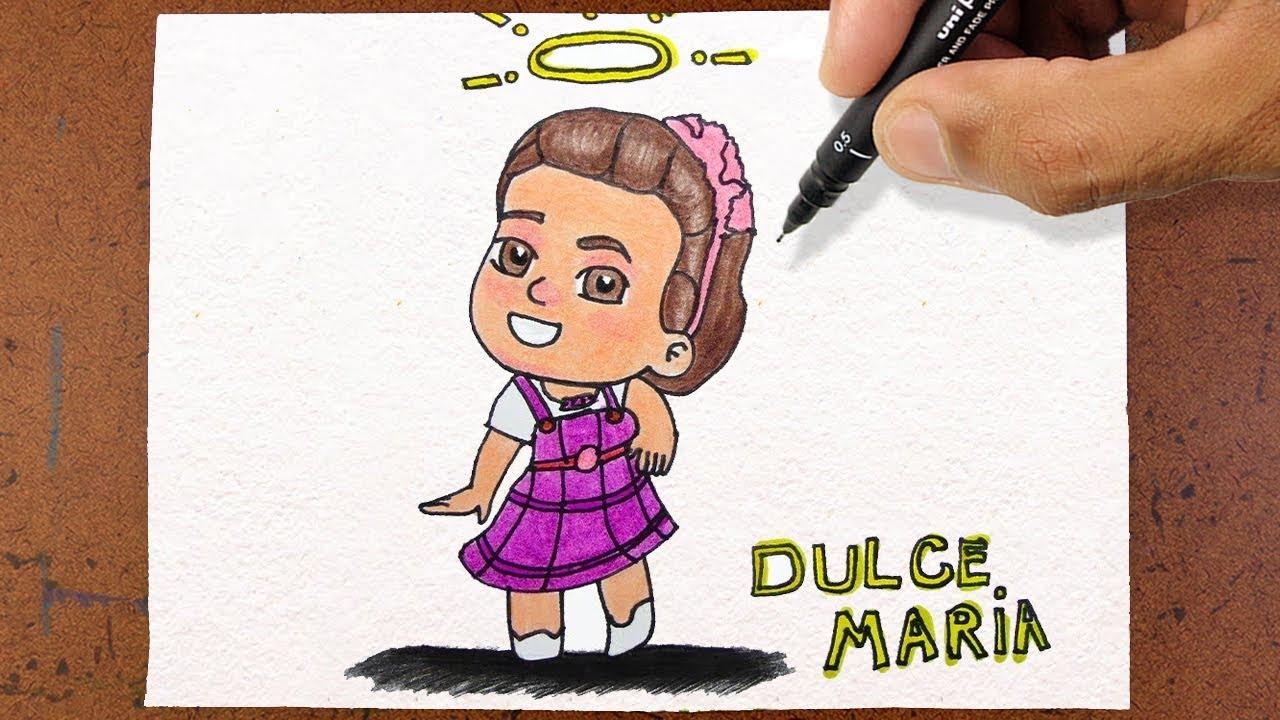 Como Desenhar A Bonequinha Carinha De Anjo Dulce Maria Colorindo