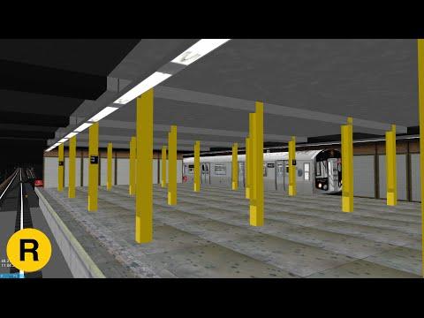 OpenBVE: Forest Hills Bound (R) Local  Broadway/Queens Lcl  R160-Alstom