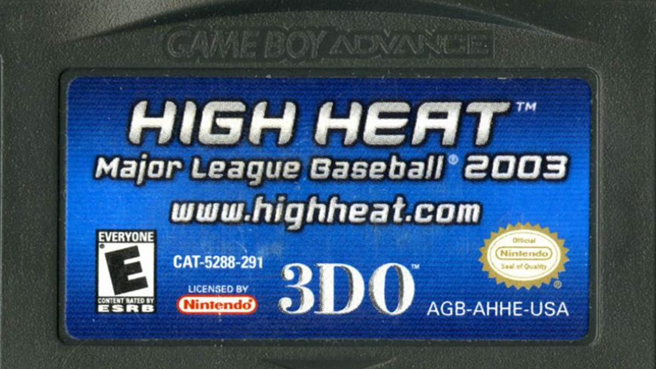 cgr undertow high heat major league baseball 2003 review for