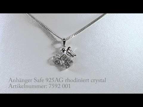 Olive Weber Anhänger Safe 925 AG rhodiniert crystal mit Swarovski Elements