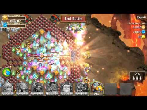 Castle Clash Elite Dungeon 8 Level 2/10 3 Flames 100% Victory