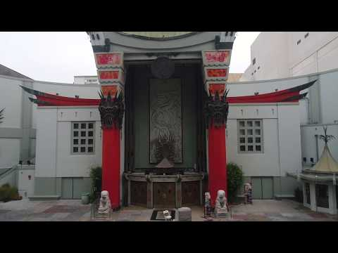 LA via Drone - Chinese Theatre, Hollywood Walk of Fame
