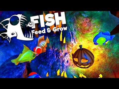 Candy Eating Goldfish! Halloween Challenge! - Feed and Grow: Fish Gameplay