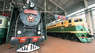 """""""Russian Railway Museum"""" in St Petersburg, Russia. Steam Trains, Locomotives and Railcars"""