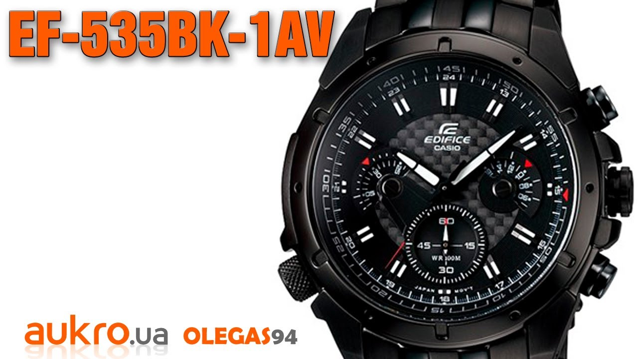 f9b3fcc0b3b5 Casio Edifice EF 535BK 1AV - YouTube