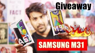 🔥 Samsung Galaxy M31 - Giveaway + First Look | 6000 mAH Battery Monster