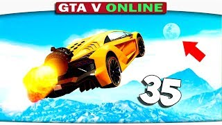ч.35 Один день из жизни в GTA 5 Online - НА ЛУНУ!! ТРАМПЛИНЫ, ТРЮКИ!!