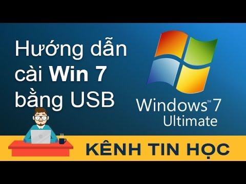 Hướng dẫn chi tiết cách cài Win 7 bằng USB (Windows 7 Ultimate)