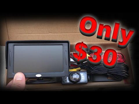 Install a Rear View Reverse Backup Camera for only $30!
