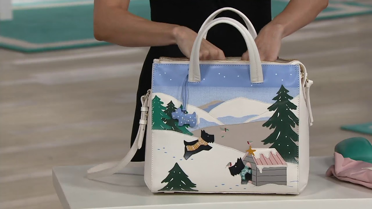 Snow Large Satchel Handbag On Qvc