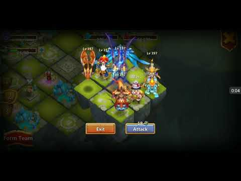 Castle Clash  Paladin New Talent Kill All