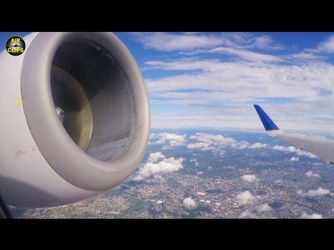 STUNNING New York Newark Takeoff United Express Embraer 145, GREAT VIEWS [AirClips]
