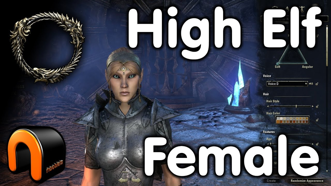 Elder Scrolls Online High Elf Female Character Creation Youtube