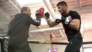 UFC Fight Night 84: Michael Bisping Workout Highlights