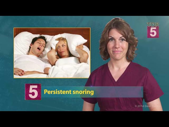 Top 5 Signs You May Have Sleep Apnea