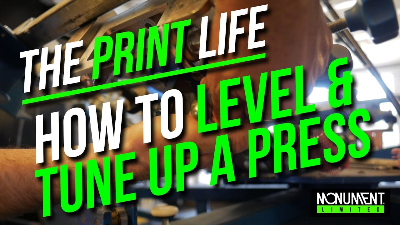 How to level and tune up a 6 color screen printing press | The Print Life