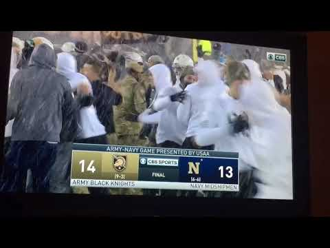 Army wins on last second Navy missed field goal!